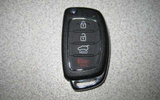 Замена батарейки в ключе Хендай Солярис видео инструкция