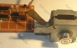 Валкодер из шагового двигателя схема
