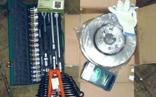 Замена задних тормозных колодок и дисков Рено Меган 3
