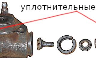 Ремонт тормозного цилиндра заднего колеса автомобилей ВАЗ 2108, 2109, 21099