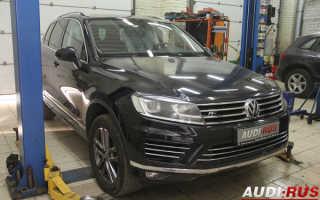 Замена передних тормозных колодок Volkswagen Touareg NF