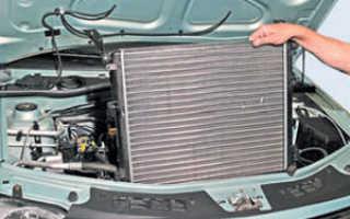 Высокоточная замена радиатора Рено Логан (Logan) при наличии кондиционера и без него