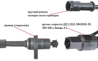 Датчик скорости ЭСУД ВАЗ 21083, 21093, 21099 инжектор