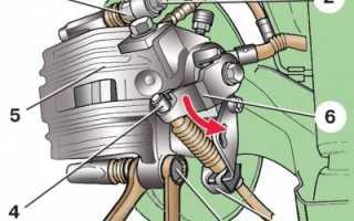 Замена задних дисковых тормозных колодок