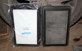 Замена воздушного фильтра Mazda 3 BL 2009-2013 г