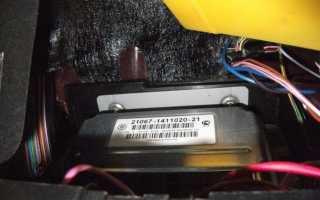 2107 запуск инжекторного двигателя