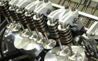 Безударная работа клапанов двигателя