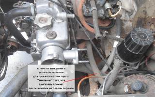 Двигатель глохнет при нажатии на педаль тормоза